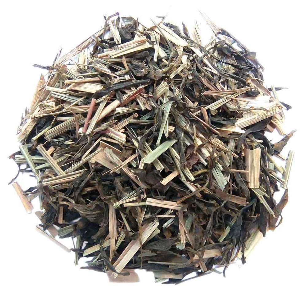 Organic Lemongrass Green Tea : Green Lemongrass Flare - Dry Leaves