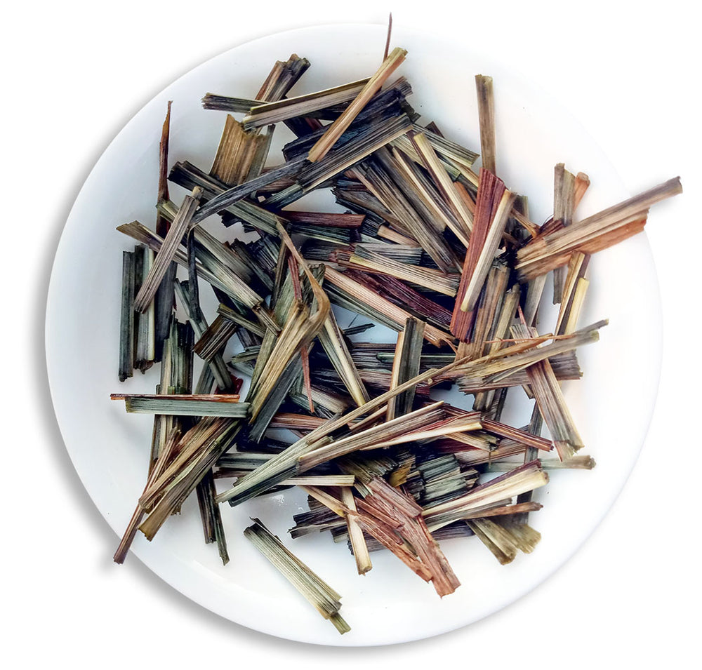 Organic Lemongrass Tea :: Lemongrass Verve - Wet Leaves