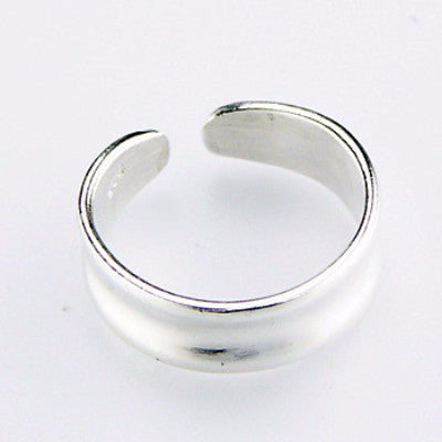 CatBatik, Stylish Modern Adjustable Sterling Silver Toe Ring, Toe Ring