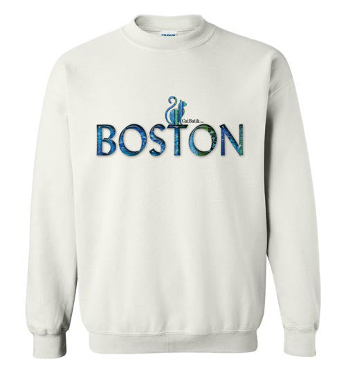 "CatBatik, ""Boston"" Crewneck Sweatshirt by CatBatik, Sweatshirts"