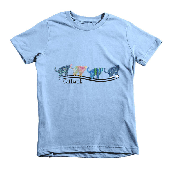 "CatBatik, ""4 Cats for Kids""  - Short Sleeve T-Shirt, Kids T-Shirts"