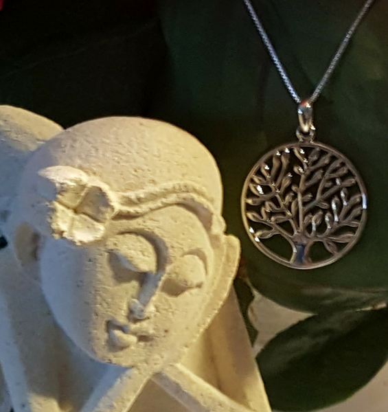 Tree of Life, Sterling Silver Necklace, CatBatik