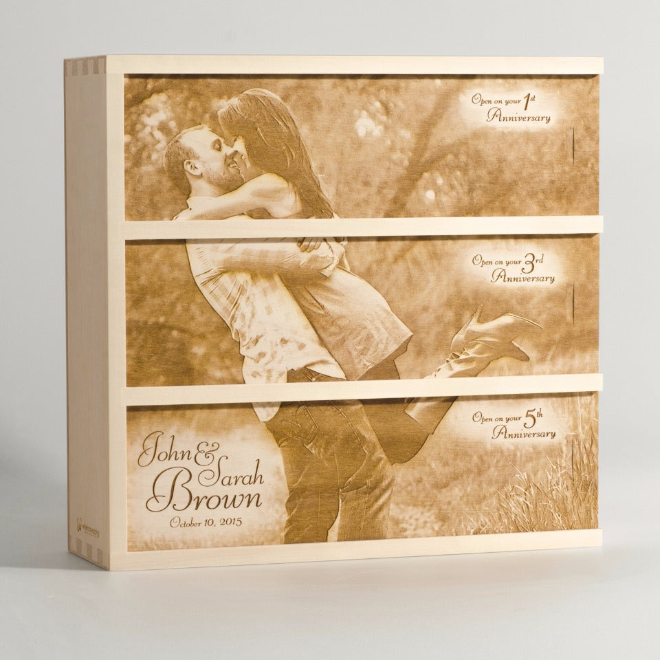 Anniversary Photo Wine Box