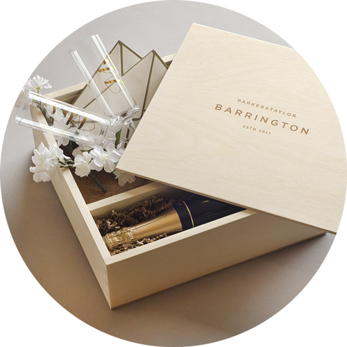 Ceremony Keepsake Box with wine