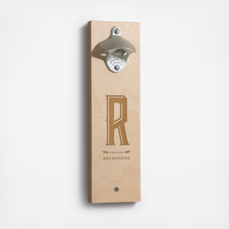 Monogrammed Bottle Opener featured by Zola