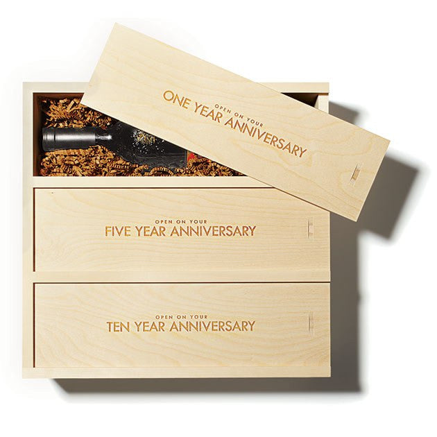 BRIDES.com features Anniversary Wine Box