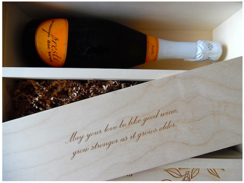 Burnetts Boards features Anniversary Wine Box in gift guide