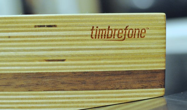 Timbrefone Walnut, side view