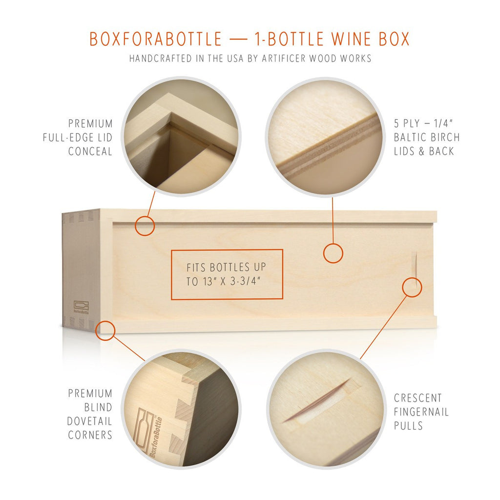 Happy Holidays Logo Wine Box