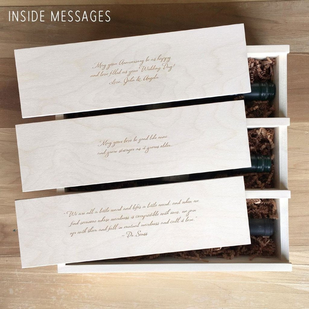 Anniversary Wine Box - by WineforaWedding - Inside Messages