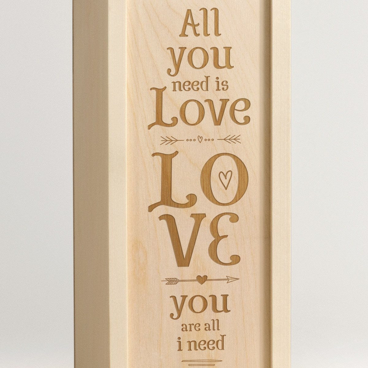 All You Need Is Love - Wine Box - Detail 1
