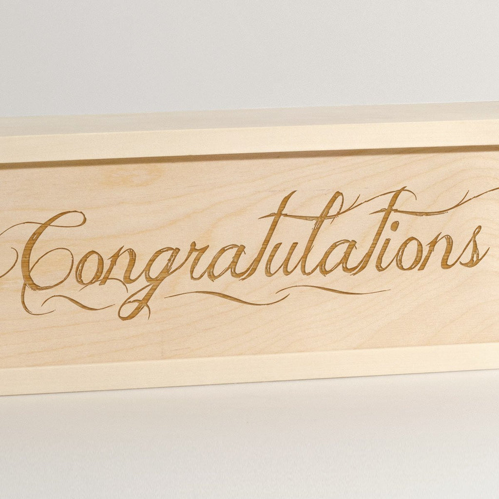 Congratulations - Wine Box - Detail Image