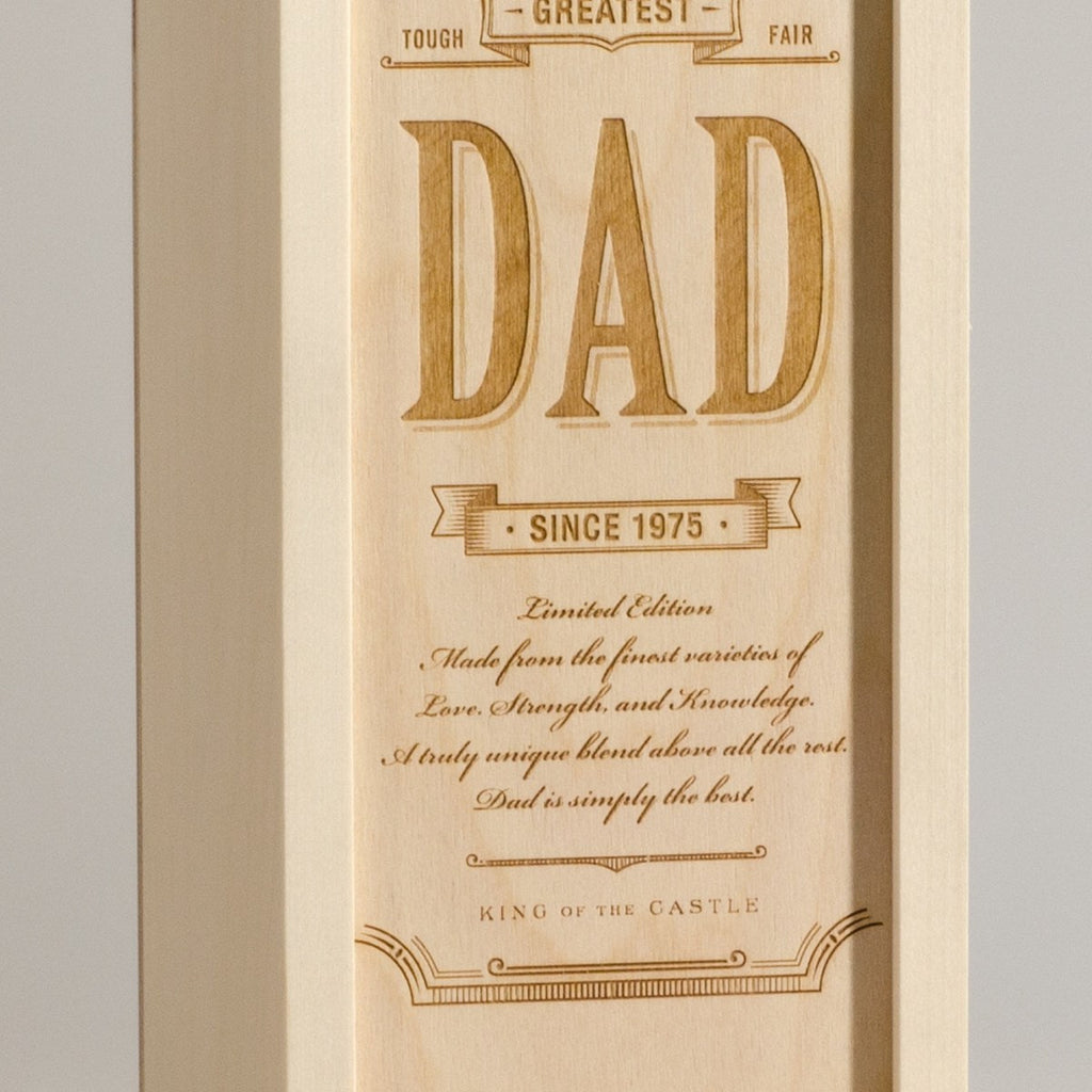 World's Greatest Dad - Wine Box - Detail Image