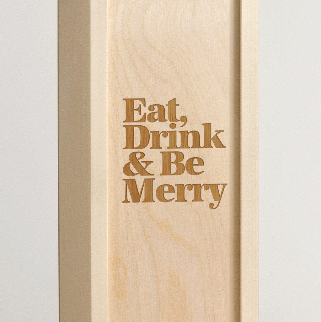 Eat Drink Be Merry - Holiday Wine Box - Detail Image