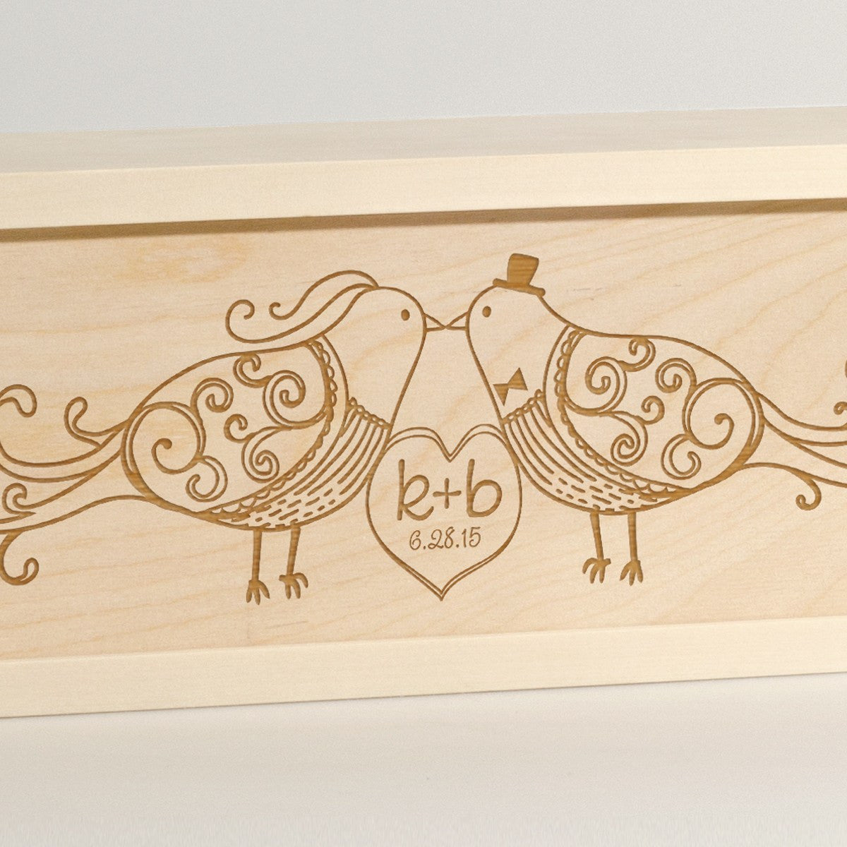 Fly Away With Me - Wedding Wine Box - Detail Image
