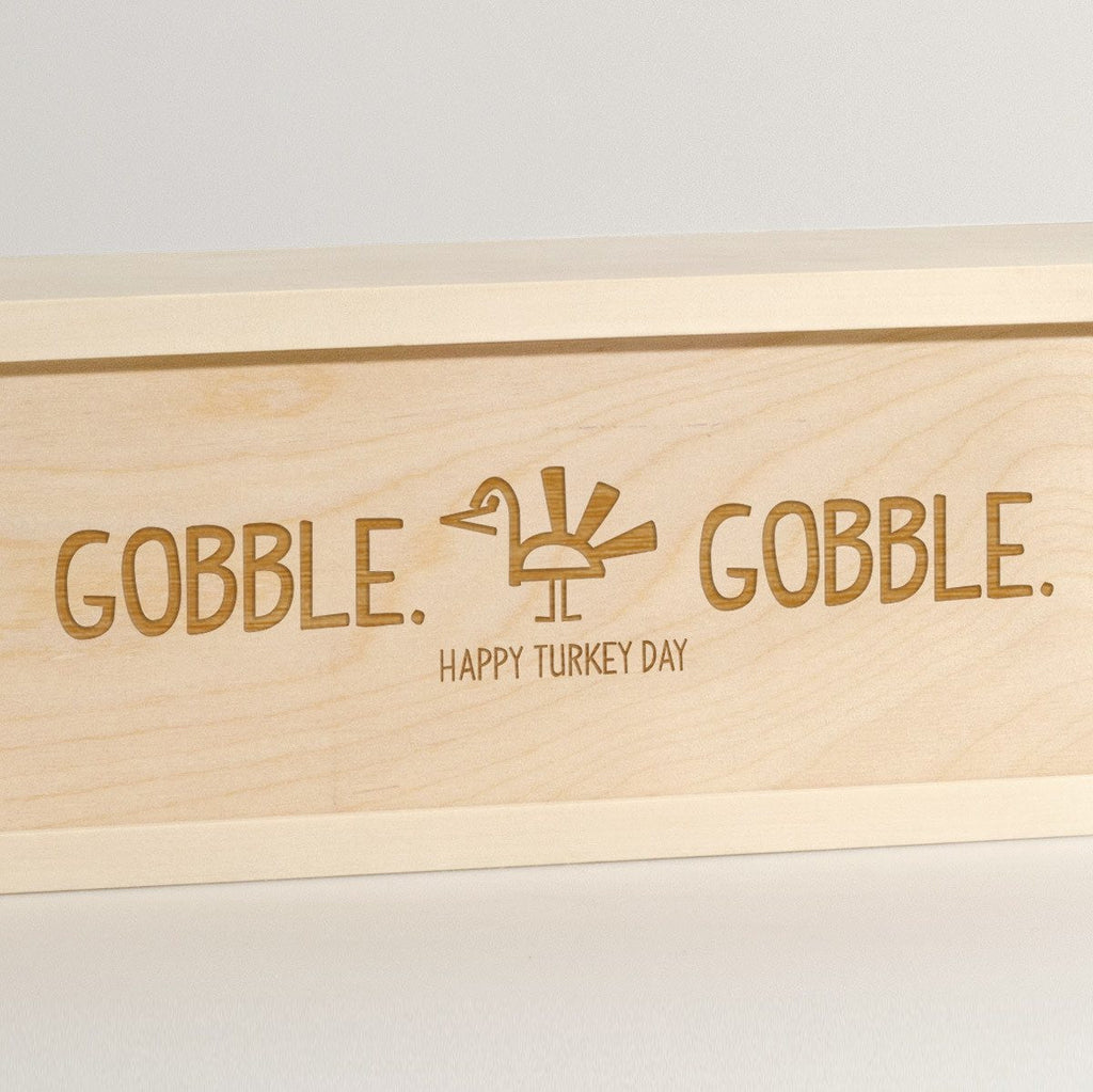 Gobble Gobble - Thanksgiving Wine Box - Detail Image