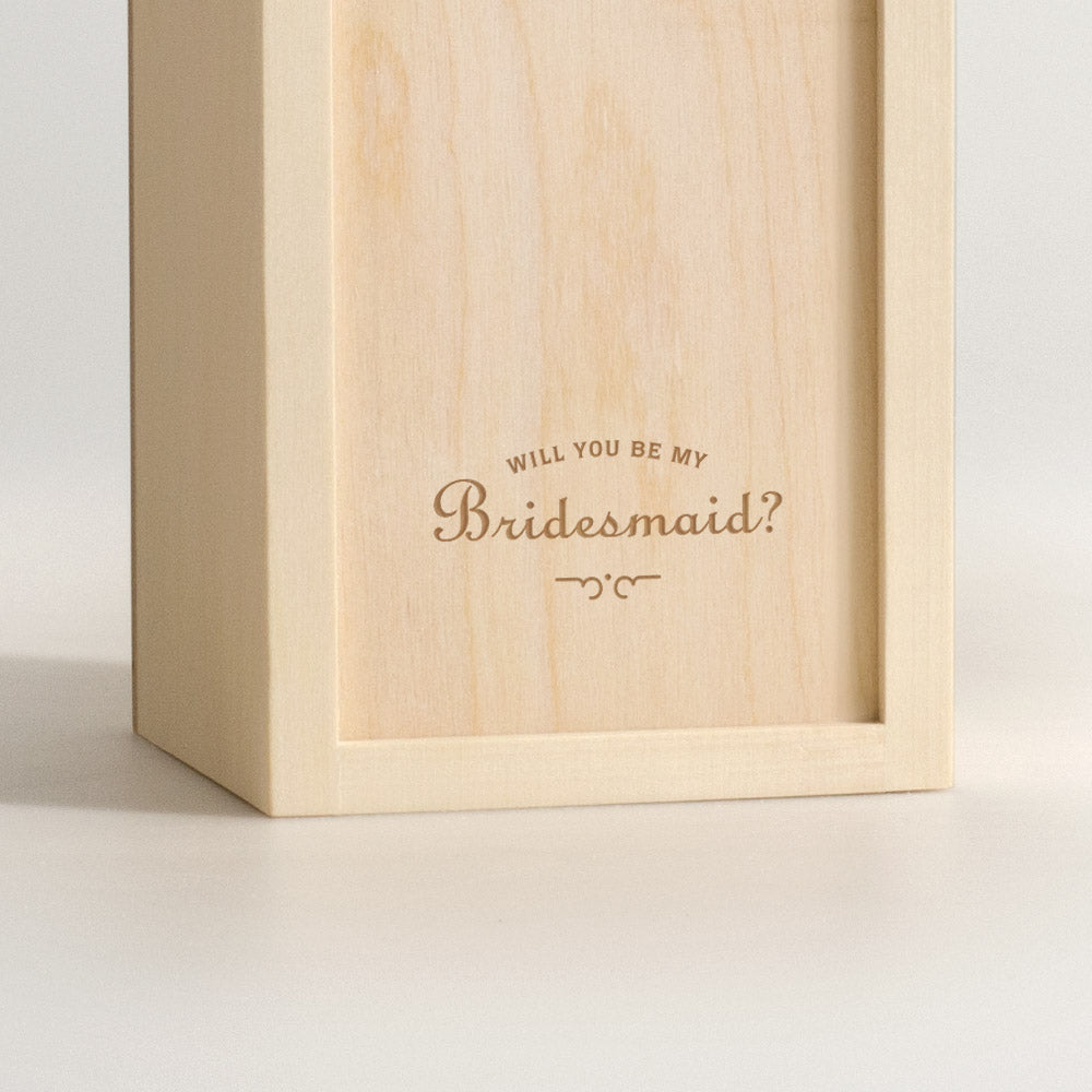 Say I Do - Bridesmaid Wine Box - closeup