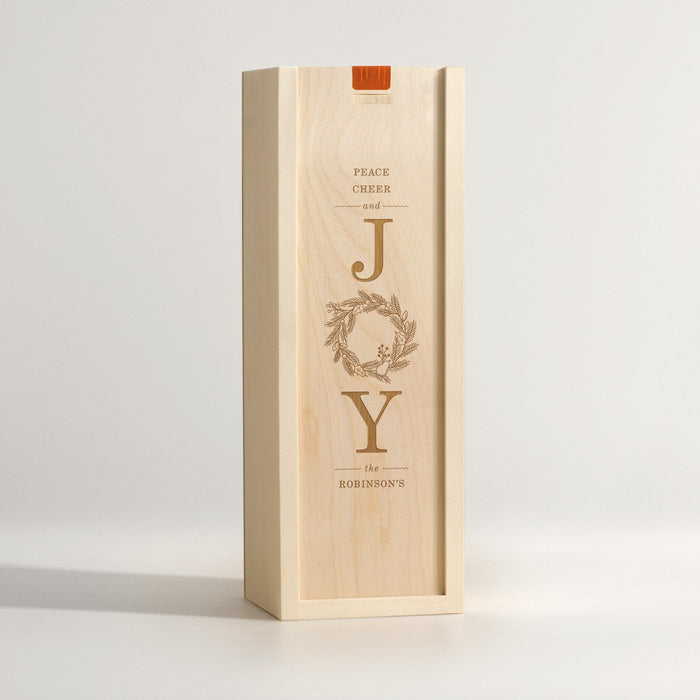Joy Wreath - Holiday Wine Box - Main Image