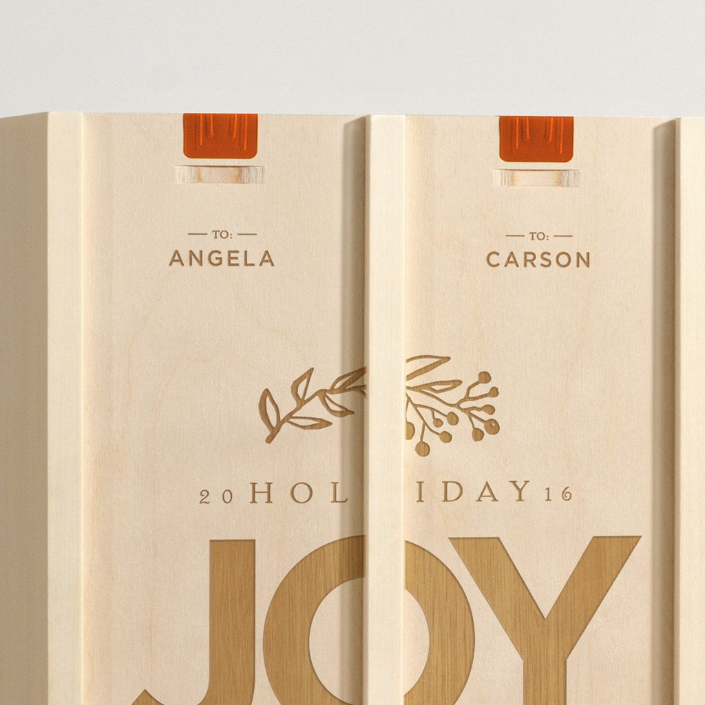 Joy To - Holiday Wine Box - Detail Image