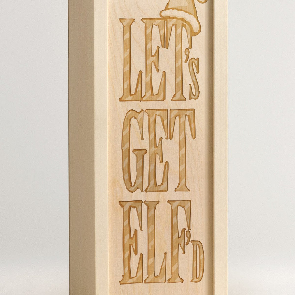 Lets Get Elfd - Christmas Wine Box - Detail Image