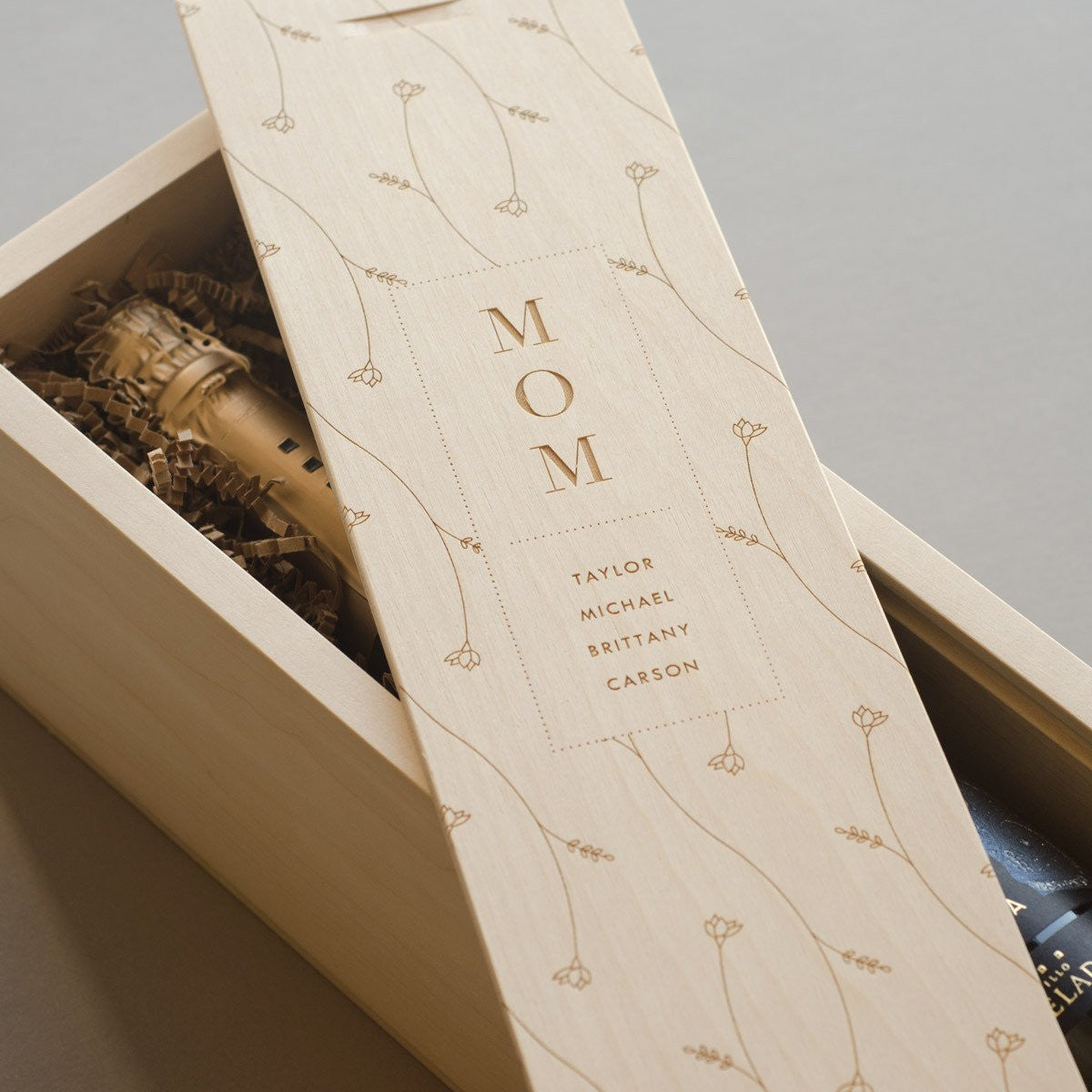 Flowers for Mom - Wine Box