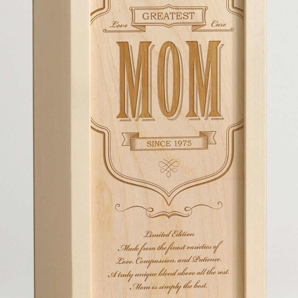 World's Greatest Mom - Wine Box - Detail Image