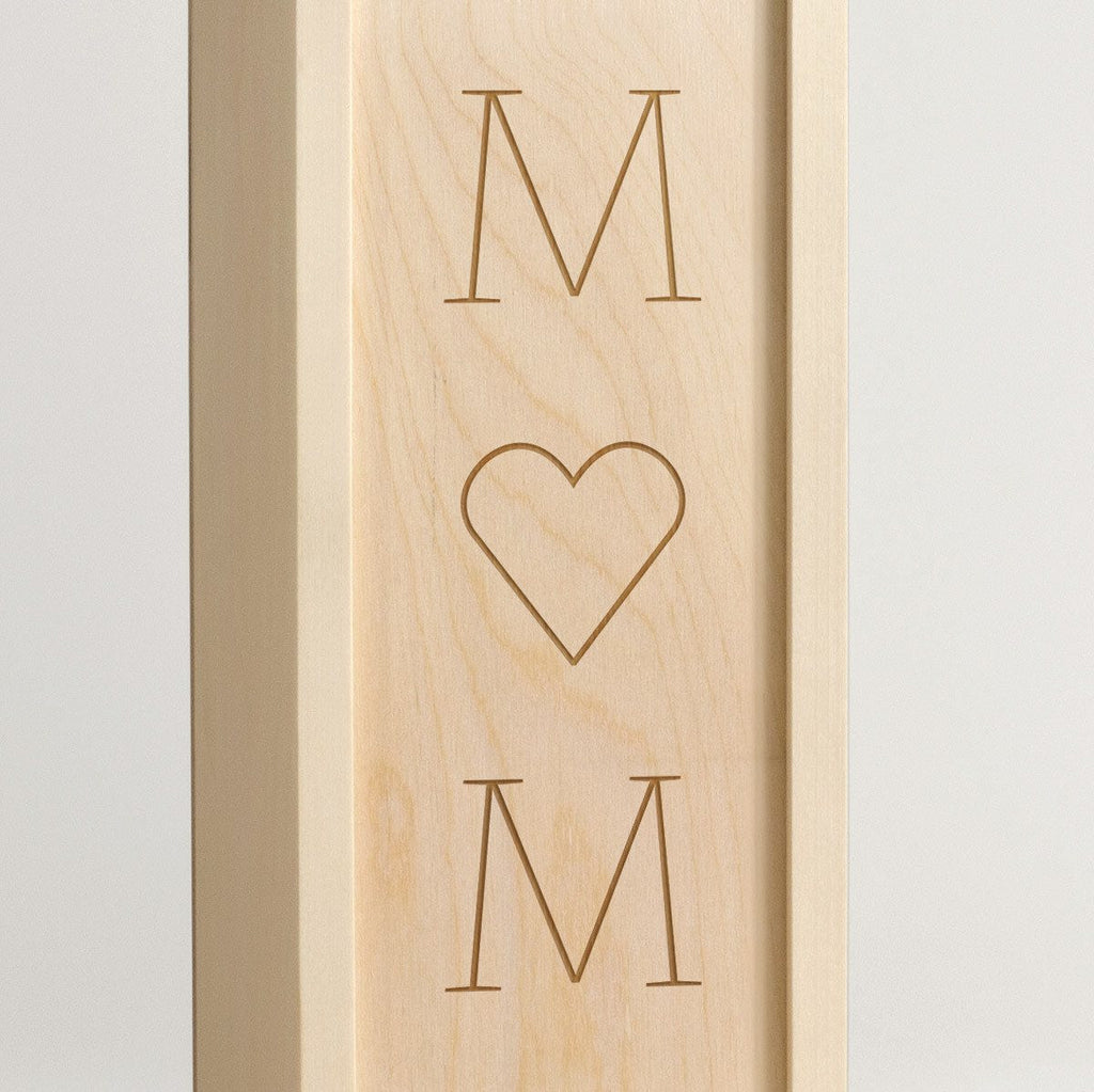 Mom, I Heart You - Wine Box - Detail Image