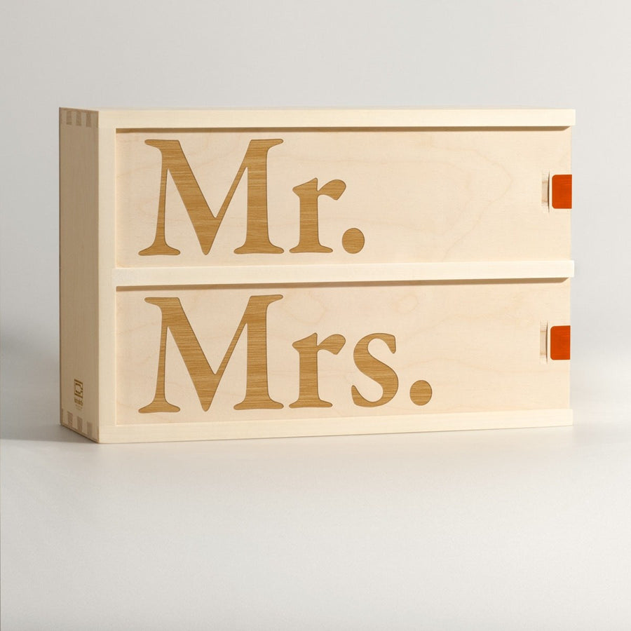 Mr. & Mrs. - Wine Box - Main Image