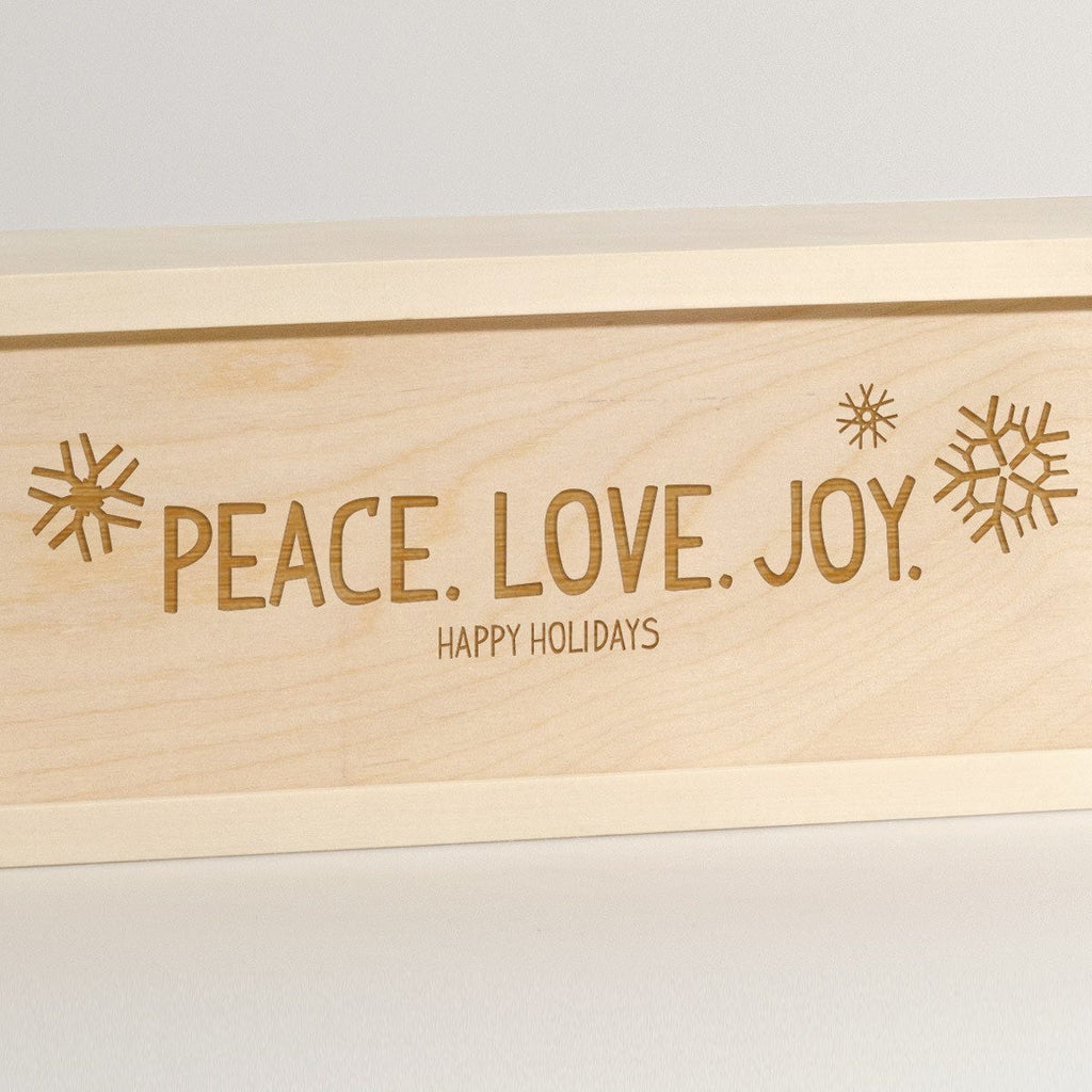 Peace Love Joy - Holiday Wine Box - Detail Image