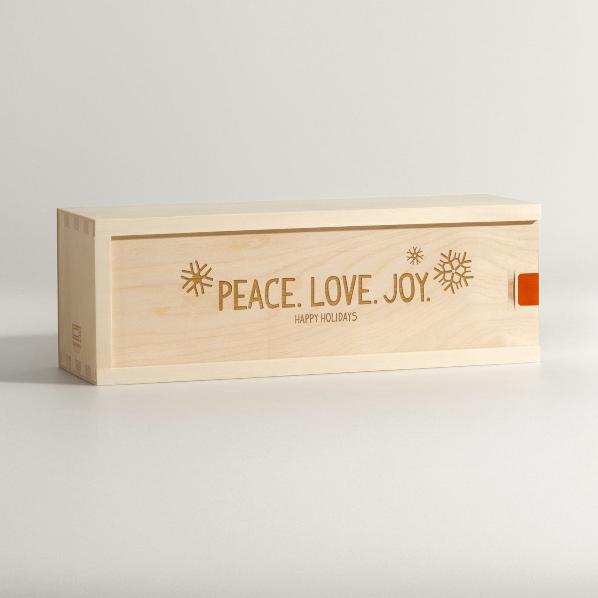 Peace Love Joy - Holiday Wine Box - Main Image