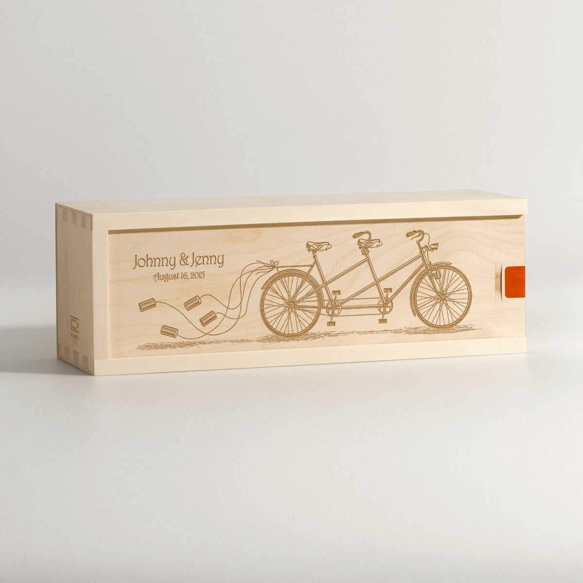 Pedal Together - Wedding Wine Box - Main Image