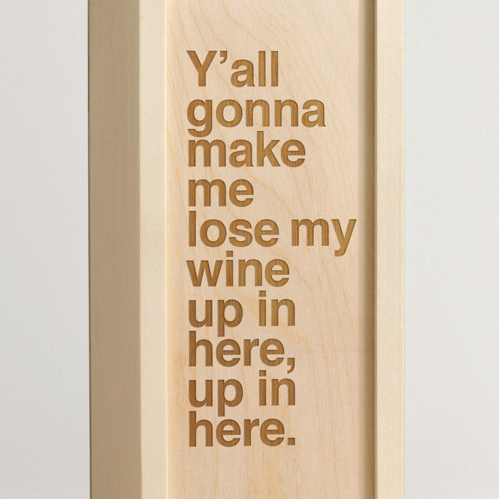 Lose My Wine - Rap Lyrics Wine Box -Detail Image