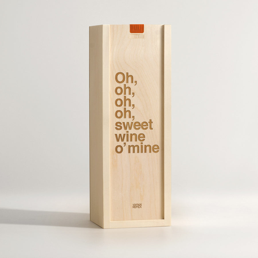 Sweet Wine O Mine - Rock Lyrics Wine Box