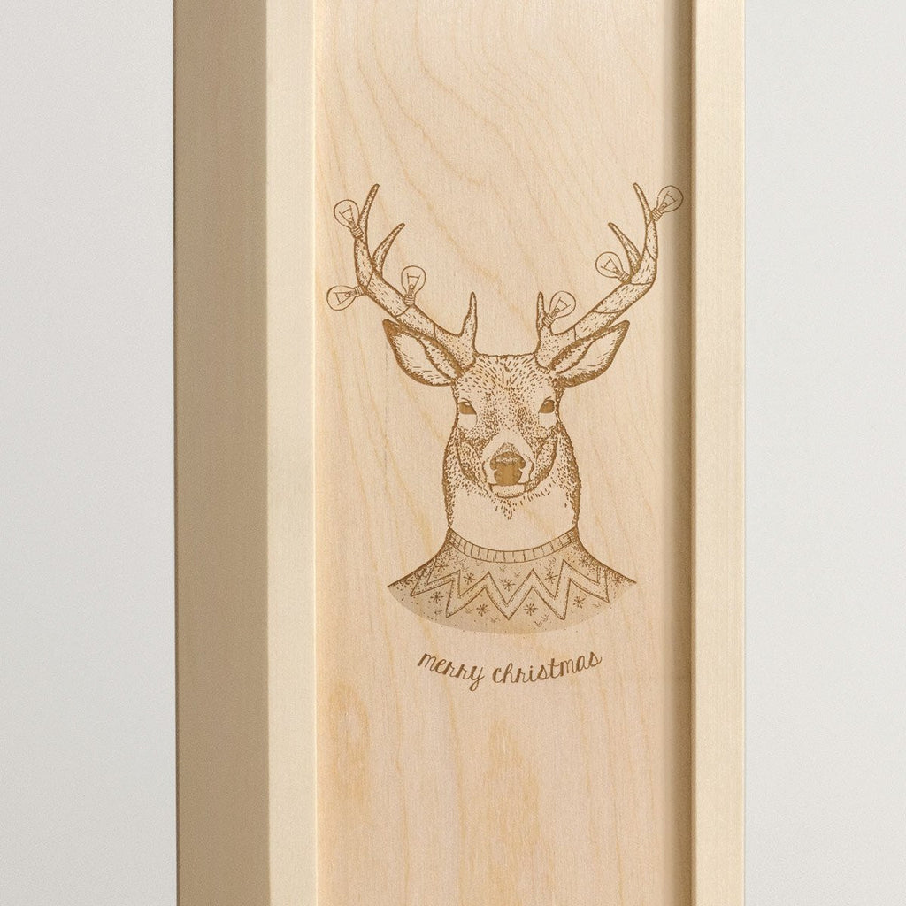 Christmas Stag - Wine Box - Detail Image 1