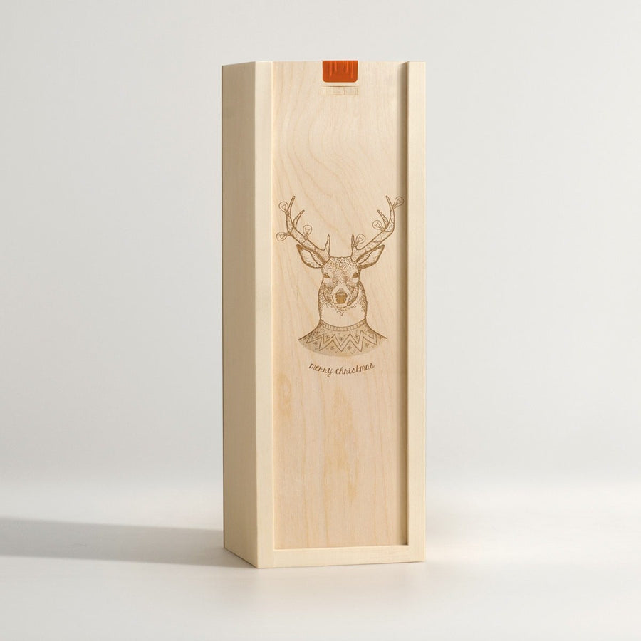 Christmas Stag - Wine Box - Main Image