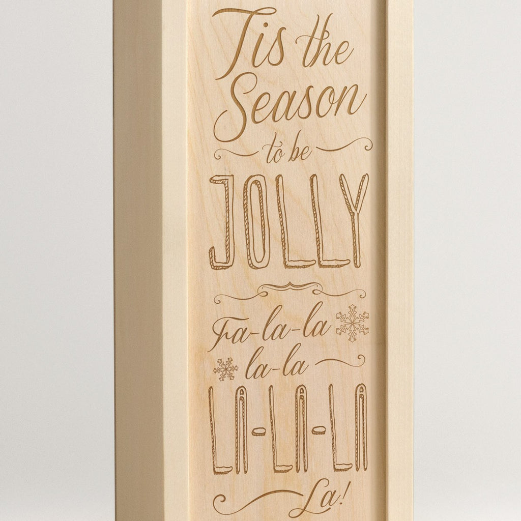 Tis The Season - Christmas Wine Box - Detail Image