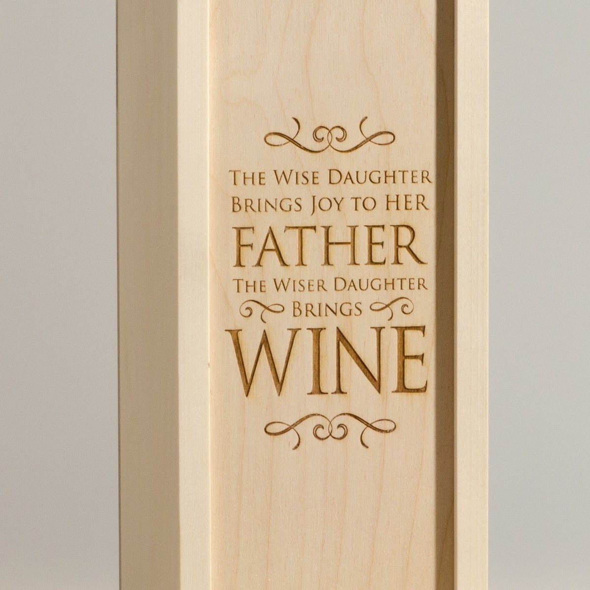 Wise Daughter - Wine Box for Dad - Detail Image