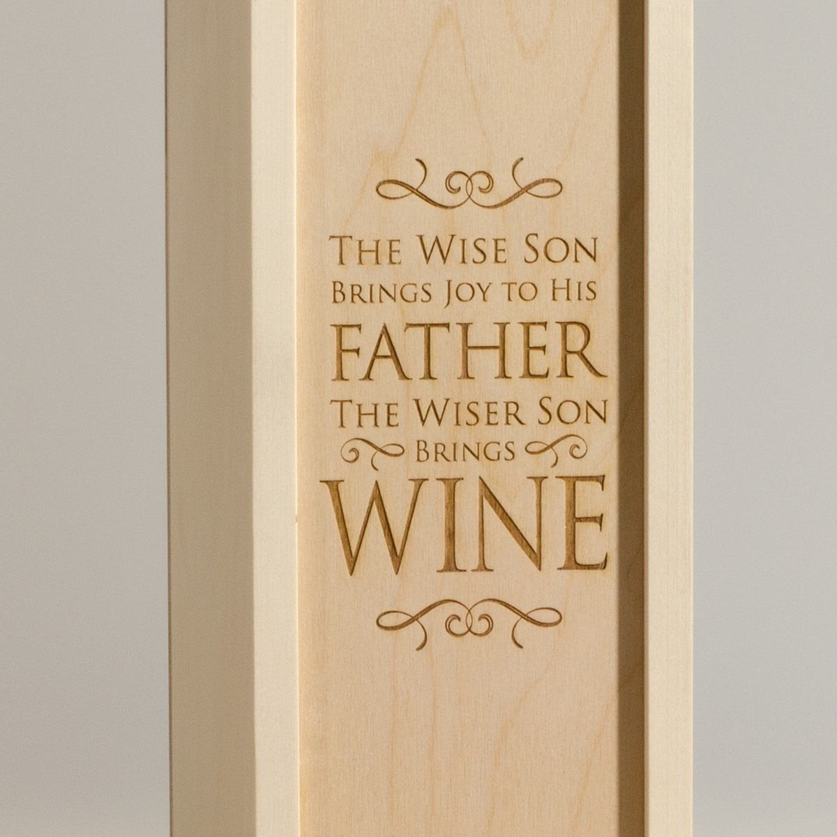 Wise Son - Wine Box for Dad - Detail Image