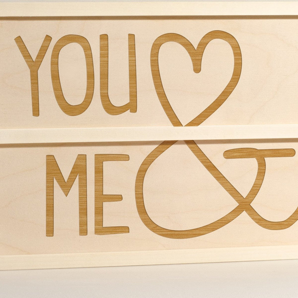 You & Me - Wine Box - Detail Image