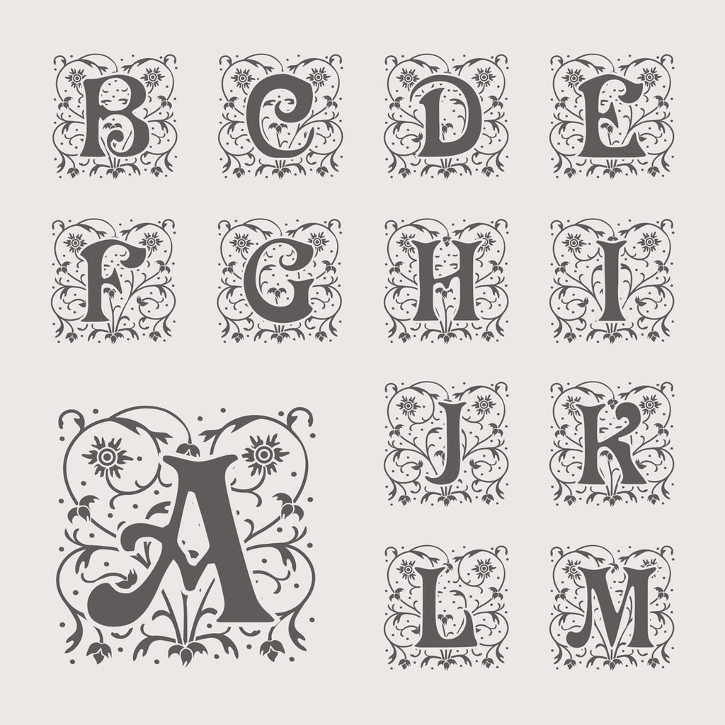 Mono Filigree - Monogram Wine Box - Font Styles 1