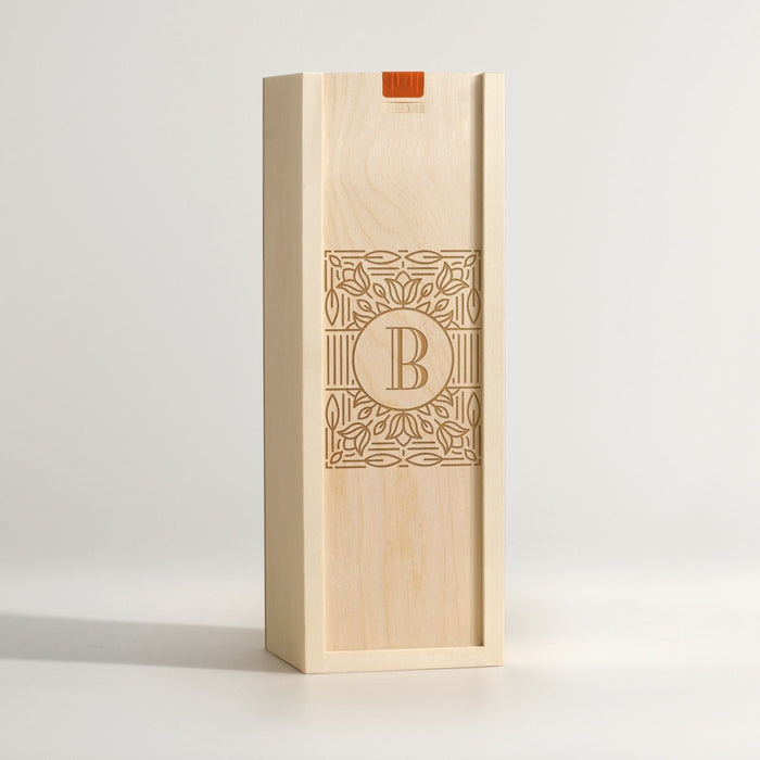 Mono Ornate - Monogram Wine Box - Main Image