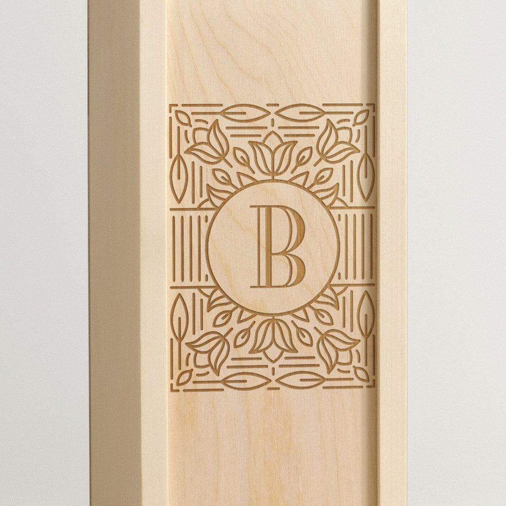 Mono Ornate - Monogram Wine Box - Detail Image