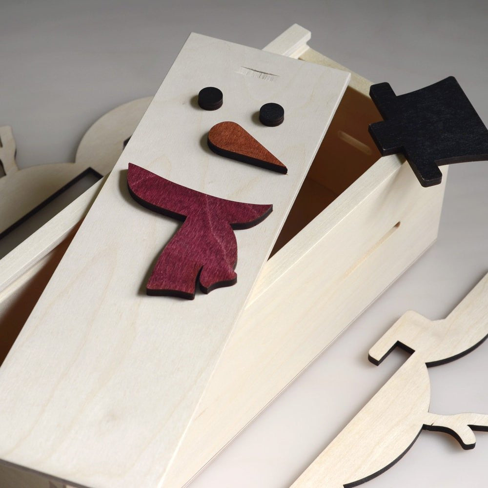 Frosty The Wineman - Holiday Wine Box - Detail Image 3