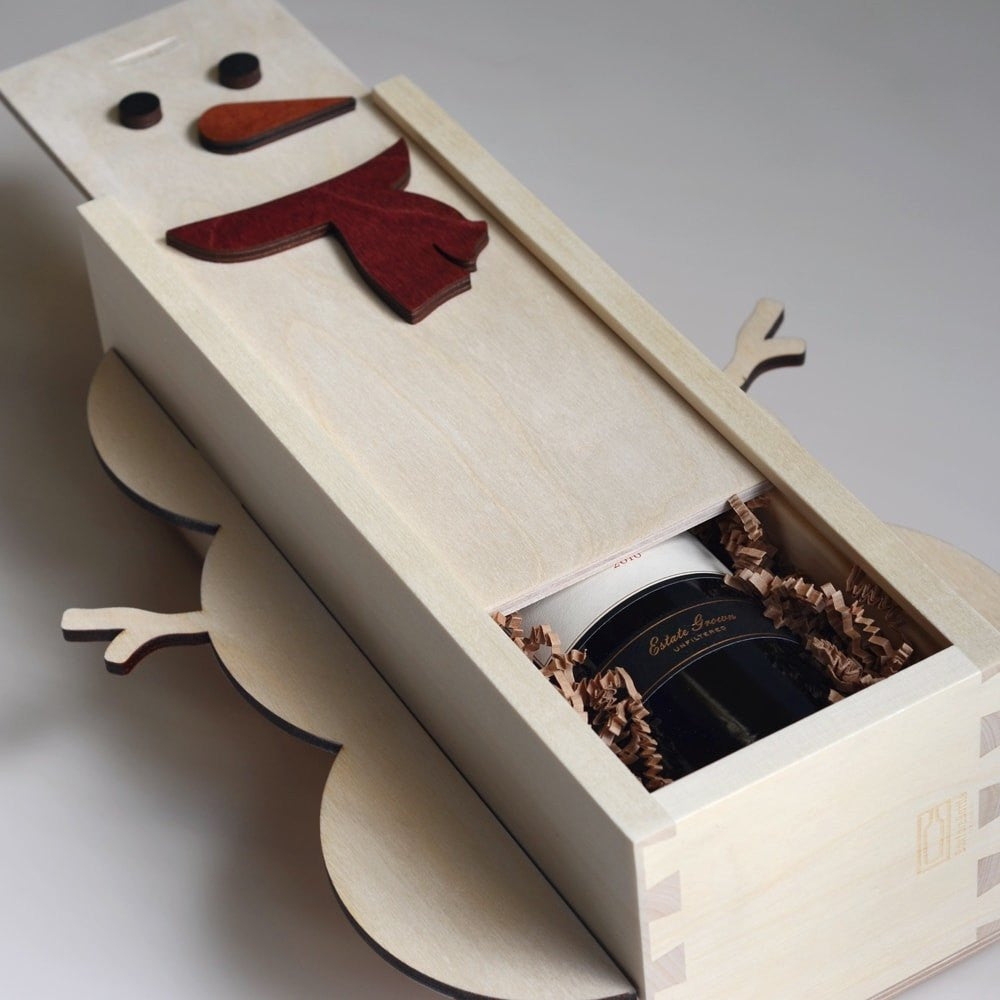 Frosty The Wineman - Holiday Wine Box - Detail Image 1