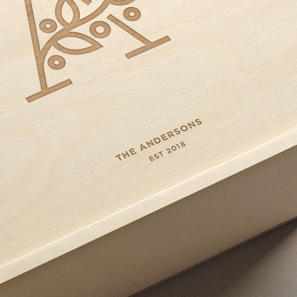 The Botanist - Keepsake Ceremony Wine Box - closeup
