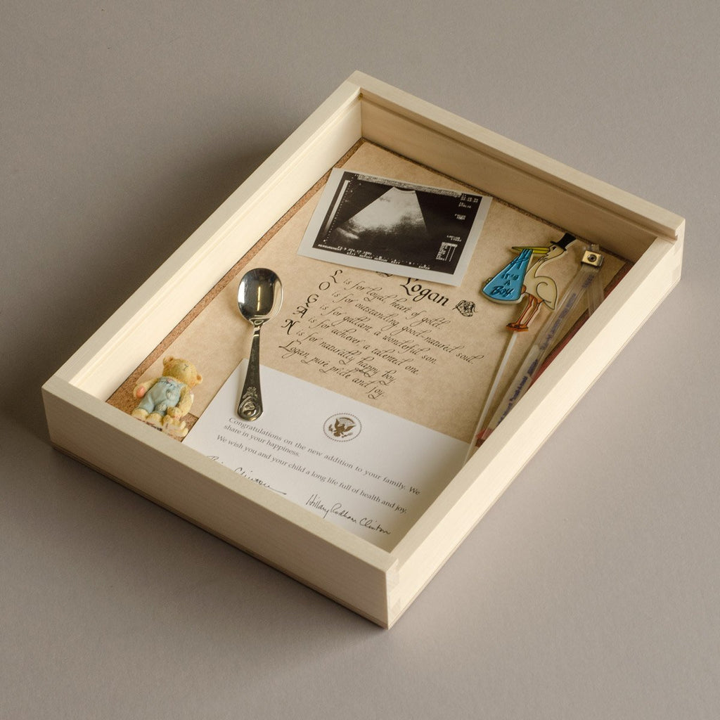 Keepsake Photo Box - baby keepsakes
