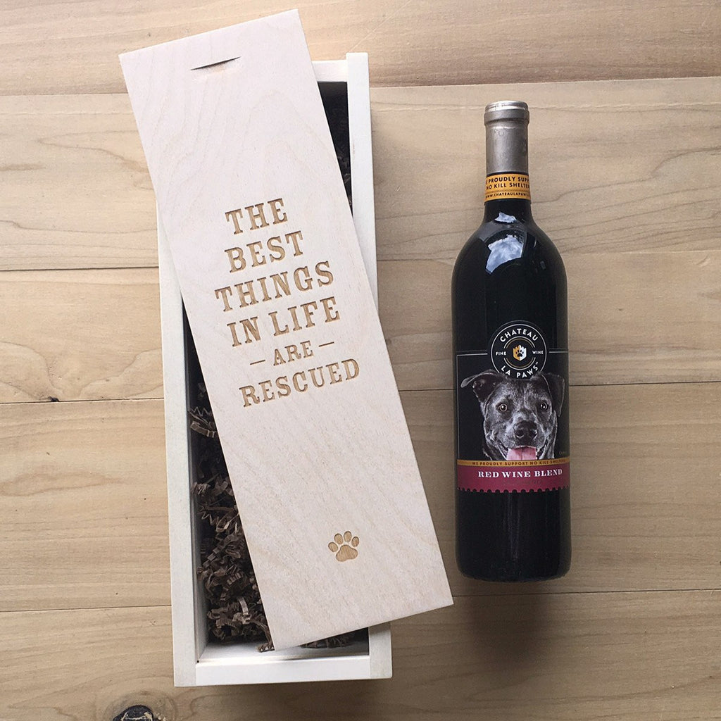 Rescued - Pet Lover Wine Box - Detail Image 1