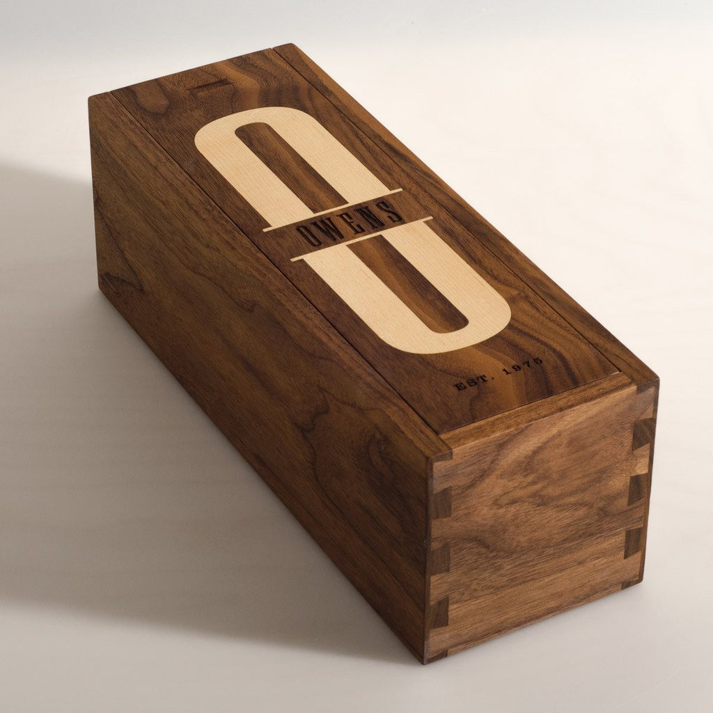 Walnut Uno - Inlaid Wine Box - Detail Image 4