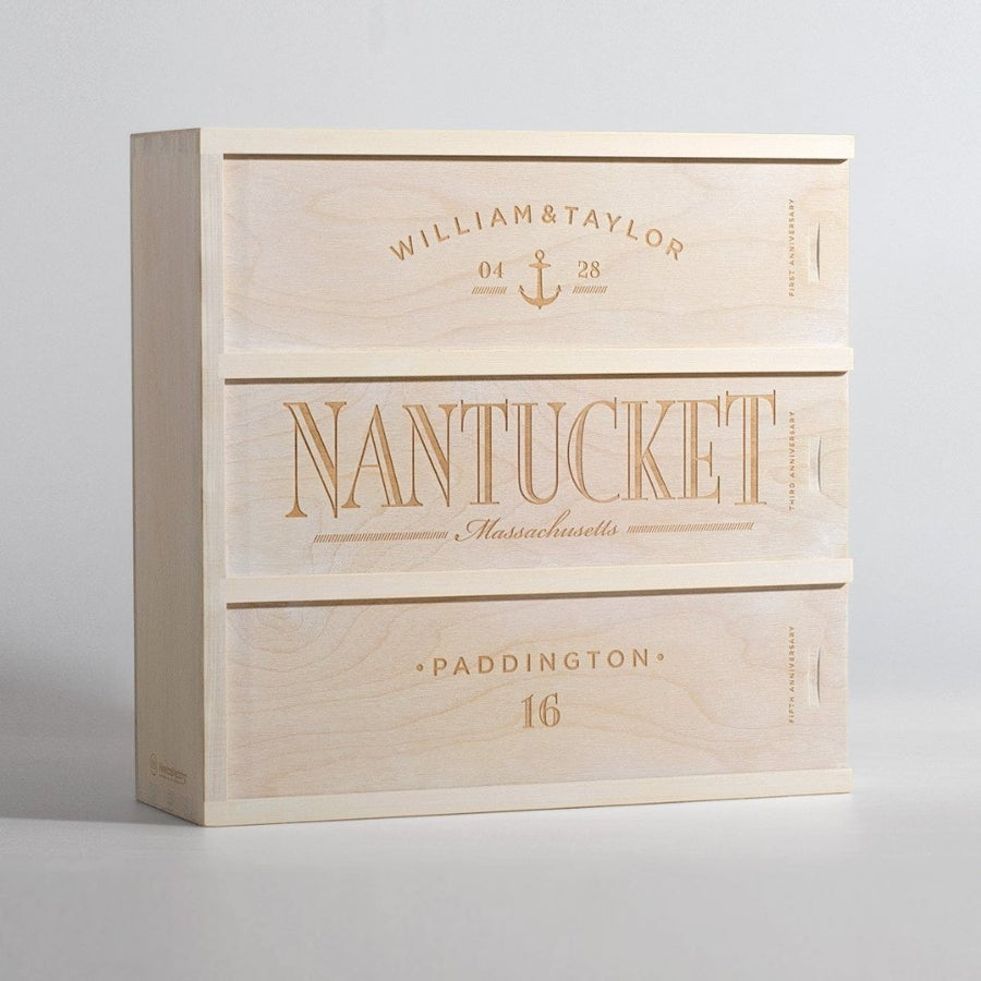 Anchors Aweigh Anniversary Wine Box - WineforaWedding