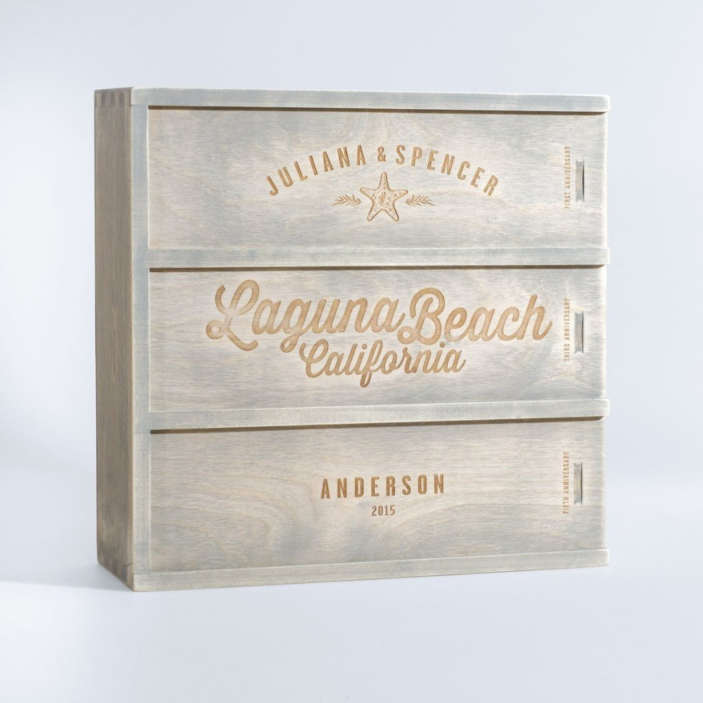 Anniversary Wine Box - Going Coastal - Wedding Gift for the Couple ...